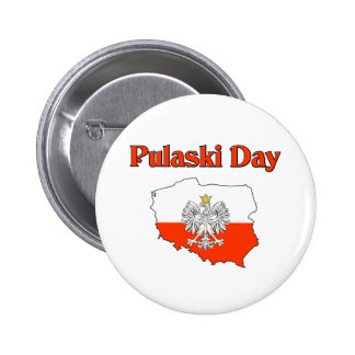 Pulaski Day. Pinback Buttons