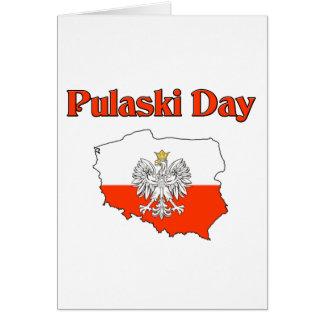 Pulaski Day. Card