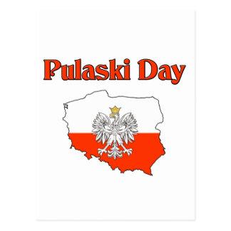 Pulaski Day. Postcard