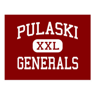 Pulaski - Generals - Middle - New Britain Postcard