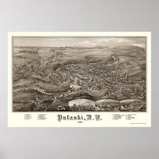 Pulaski, NY Panoramic Map - 1885 Poster