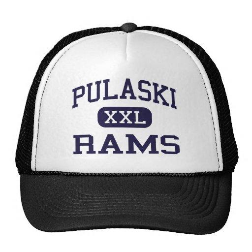Pulaski - Rams - High School - Milwaukee Wisconsin Hats