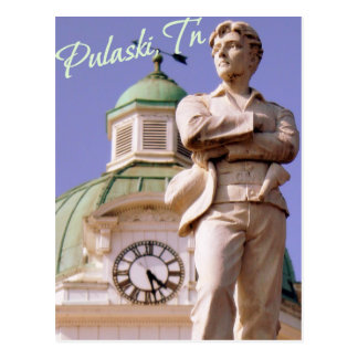 Pulaski, TN Sam Davis Statue Postcard