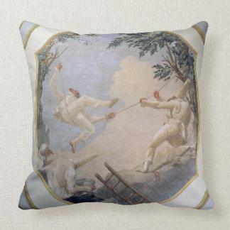 Pulcinella en un oscilación, 1797 (fresco) almohadas