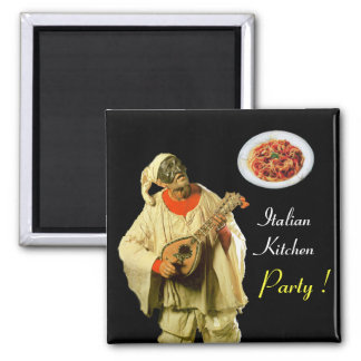 PULCINELLA  ITALIAN KITCHEN PARTY ,black Magnet