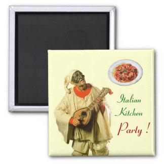 PULCINELLA  ITALIAN KITCHEN PARTY ,cream Magnet