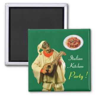 PULCINELLA  ITALIAN KITCHEN PARTY ,green Magnet