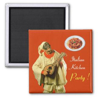 PULCINELLA  ITALIAN KITCHEN PARTY ,orange Magnet