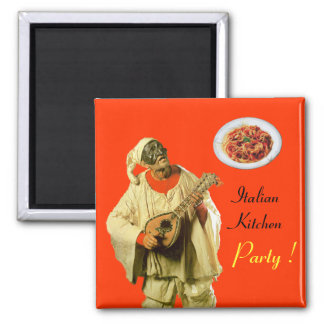 PULCINELLA  ITALIAN KITCHEN PARTY ,orange Magnet