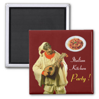 PULCINELLA  ITALIAN KITCHEN PARTY ,red Magnet