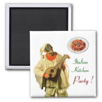 PULCINELLA  ITALIAN KITCHEN PARTY ,white Magnet