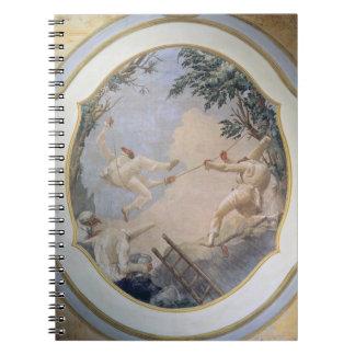 Pulcinella on a Swing, 1797 (fresco) Notebook