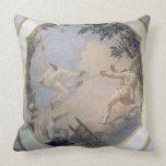 Pulcinella on a Swing, 1797 (fresco) Throw Pillow