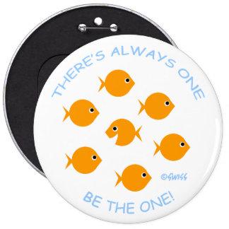 Pulgada de diámetro del botón 6 de la motivación d pins