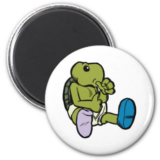 Pulgar que chupa la tortuga imán redondo 5 cm