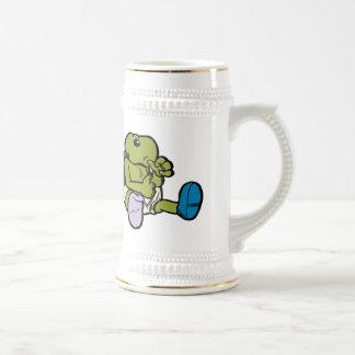 Pulgar que chupa la tortuga tazas de café