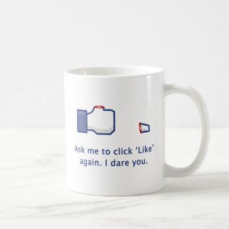 Pulgar separado - pregúnteme que para hacer clic taza de café