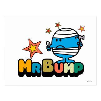 Pulgar y estrellas vendados el | de Sr. Bump Tarjeta Postal