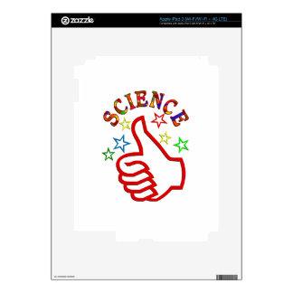 Pulgares de la ciencia para arriba iPad 3 pegatinas skins