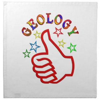 Pulgares de la geología para arriba servilletas imprimidas