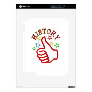 Pulgares de la historia para arriba calcomanía para iPad 2