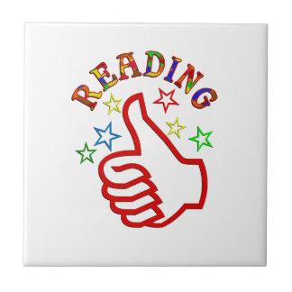 Pulgares de la lectura para arriba azulejo cuadrado pequeño