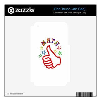 Pulgares de la matemáticas para arriba iPod touch 4G skin