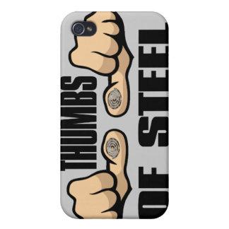 Pulgares del acero iPhone 4/4S carcasa