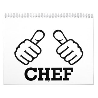 Pulgares del cocinero calendarios