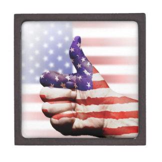 ¡Pulgares hasta los E.E.U.U.! Cajas De Recuerdo De Calidad