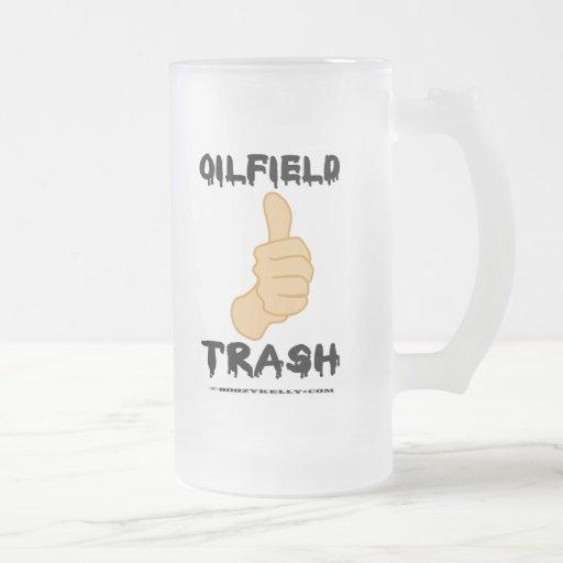 Pulgares para arriba, basura del campo taza cristal mate