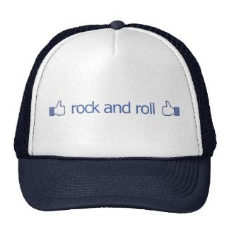 Pulgares para arriba para el rock-and-roll - gorra