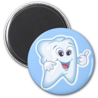 ¡Pulgares para arriba para la higiene dental! Imán Redondo 5 Cm