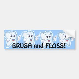 ¡Pulgares para arriba para la higiene dental! Pegatina Para Auto