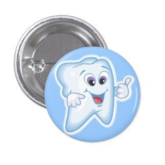 ¡Pulgares para arriba para la higiene dental! Pin Redondo De 1 Pulgada