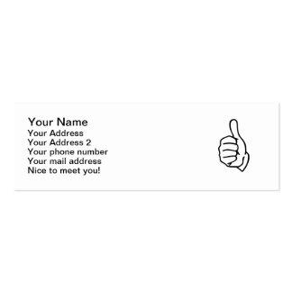 Pulgares para arriba plantillas de tarjetas de visita