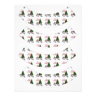 Pulgas Navidad - pulgas del navidad del baile Plantilla De Membrete
