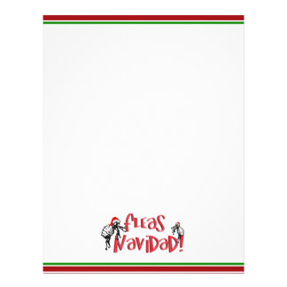 Pulgas Navidad - pulgas del navidad del baile Membretes Personalizados