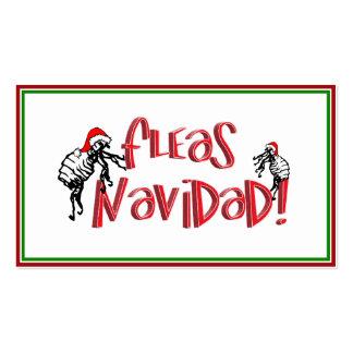 Pulgas Navidad - pulgas del navidad del baile Tarjetas De Visita