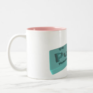 Puli as Pu Plutonium and Li Lithium Two-Tone Coffee Mug