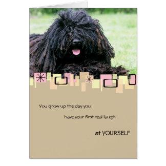 Puli Birthday Greeting Card