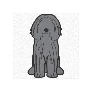 Puli Dog Cartoon Stretched Canvas Prints