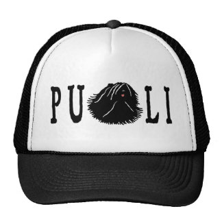 Puli Dog with Puli Text Trucker Hat