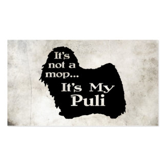 Puli Not A Mop Business Card