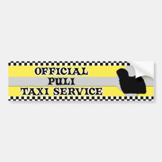 Puli Taxi Service Bumper Sticker