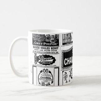 Pulicidad, old, black and white newspaper classic white coffee mug
