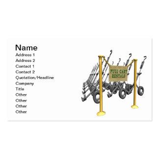 Pull Cart Rentals Business Card