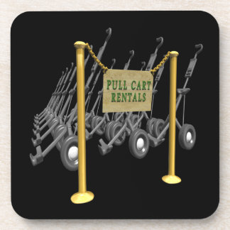 Pull Cart Rentals Drink Coaster