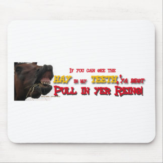 Pull in reins Funny Horse Mouse Pad