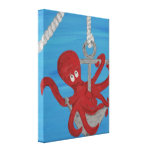 Pull Me Up Octopus Gallery Wrap Canvas